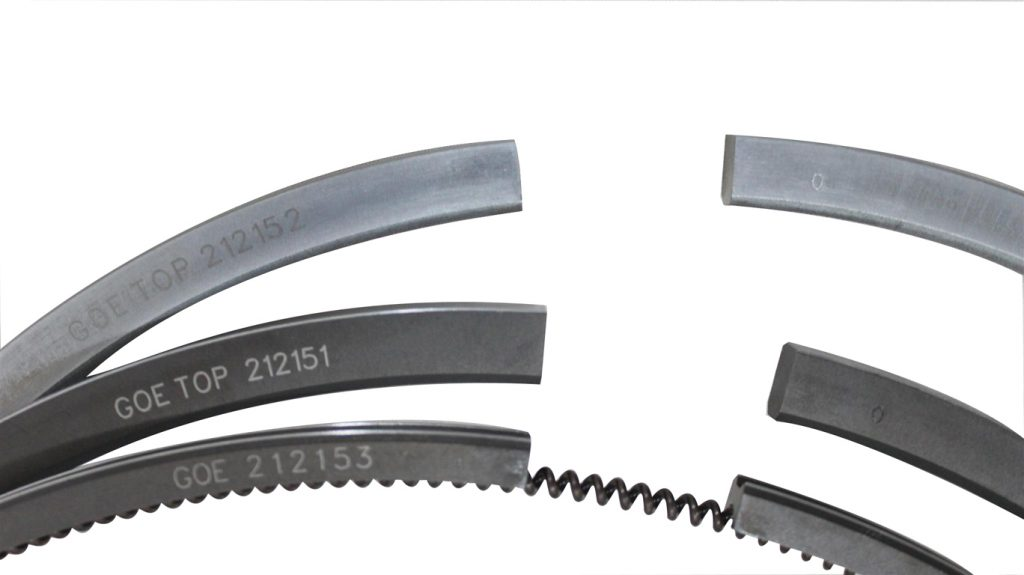 Wartsila 26 Piston Ring Set with GOE markings